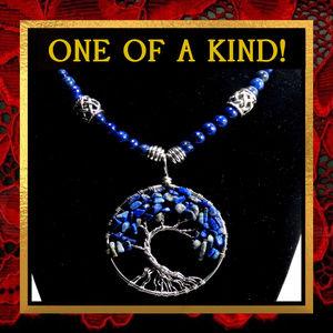 Tree of Life Lapis Lazuli Stone Necklace #487